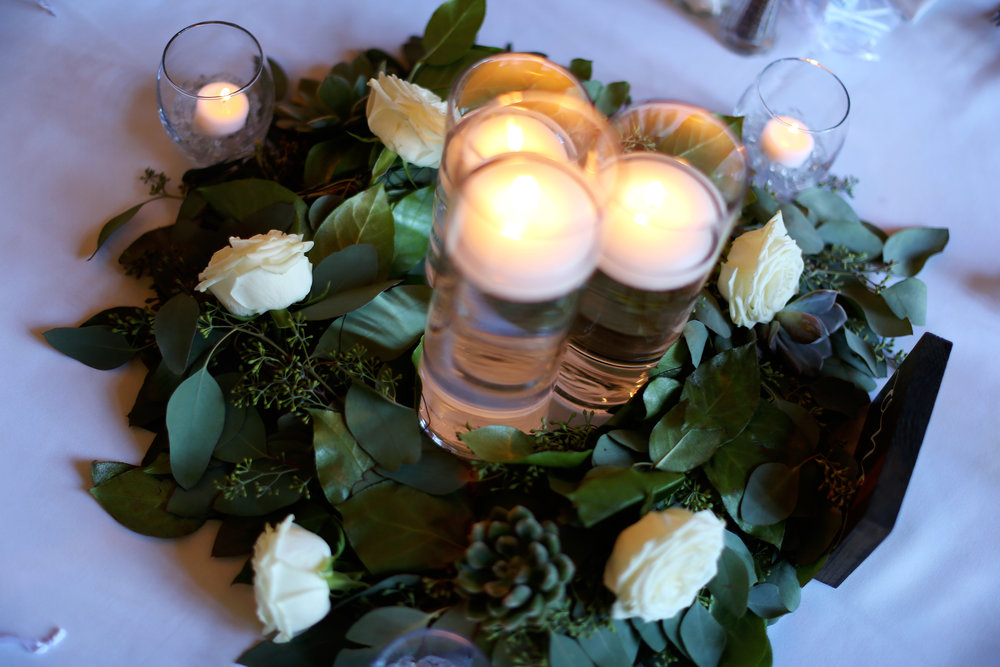 Sublime Stems | Inglewood Golf Course | Kenmore | Angela Lyons Photography | Centerpieces | Garland | Greenery | Candles