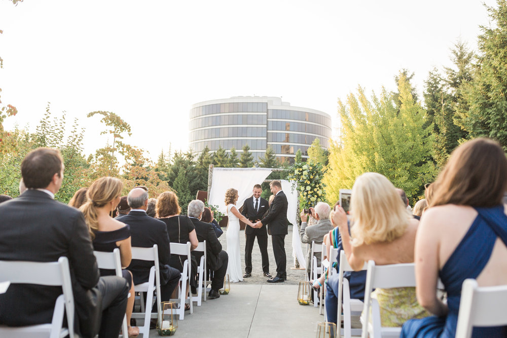 seattle-wedding-chuppah-ceremony-lush-greenery-yellow-floral