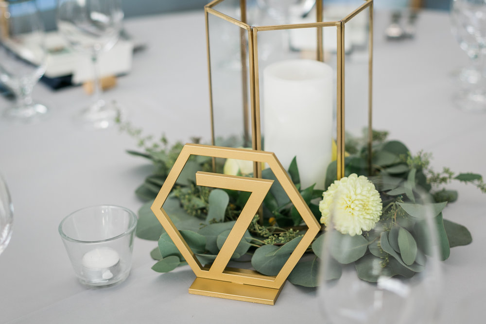 seattle-wedding-geometric-candles-greenery-modern-yellow-floral