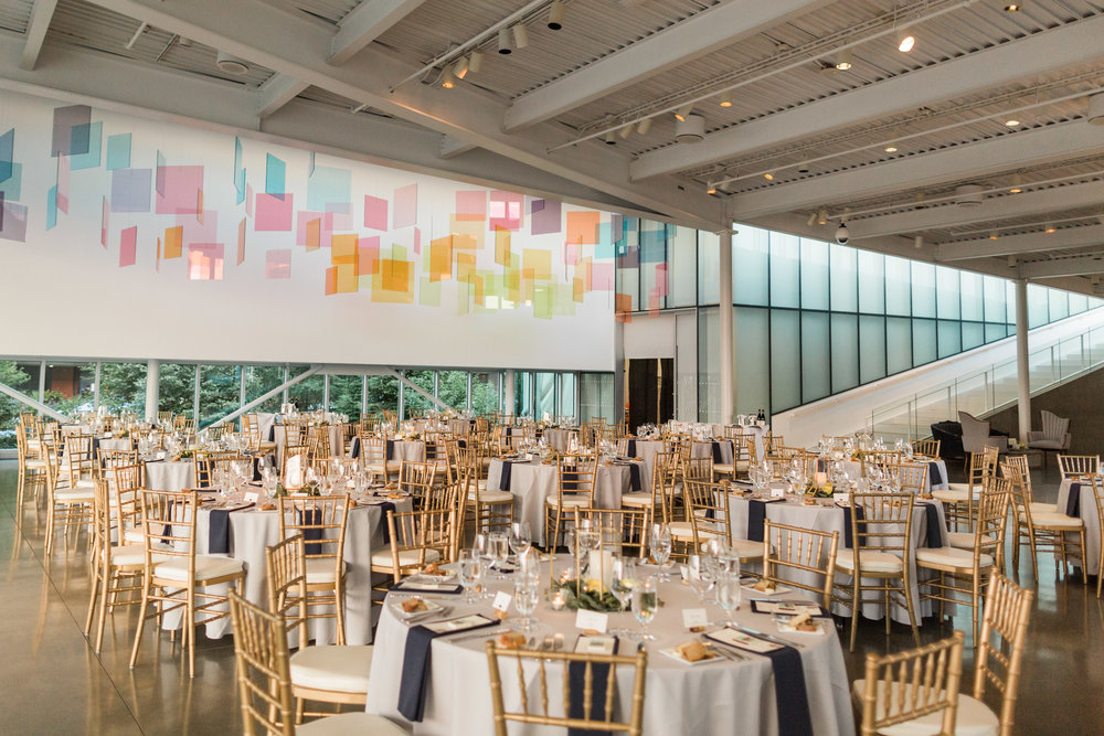 seattle-wedding-reception-candles-geometric-greenery-olympic sculpture park-party