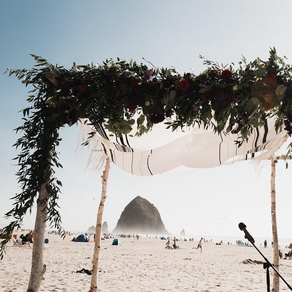 Summer Wedding at Cannon Beach, Oregon -