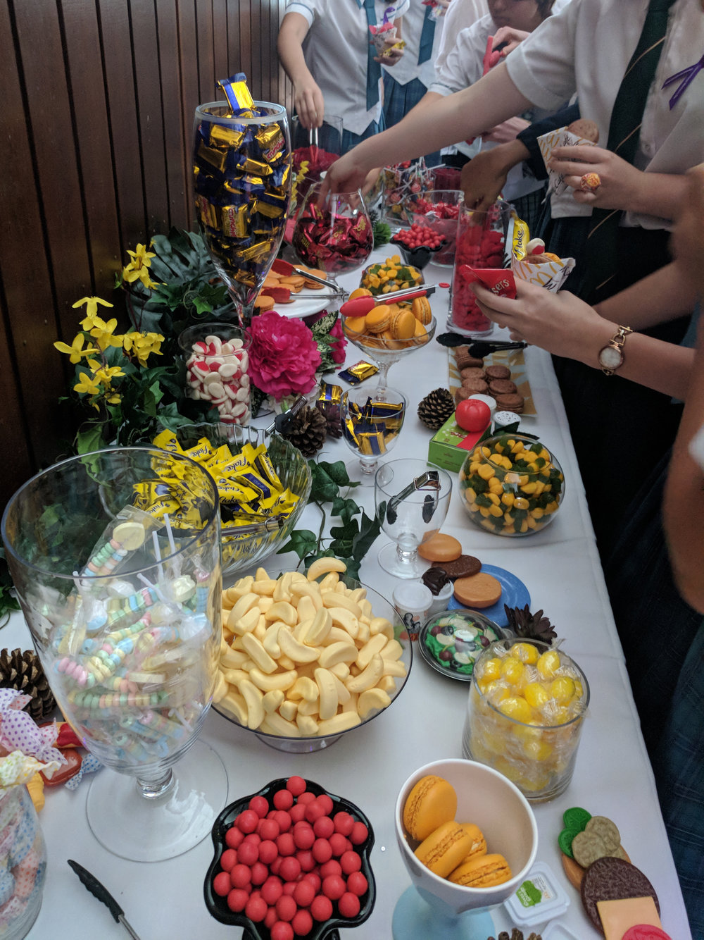 Enjoying the lolly bar