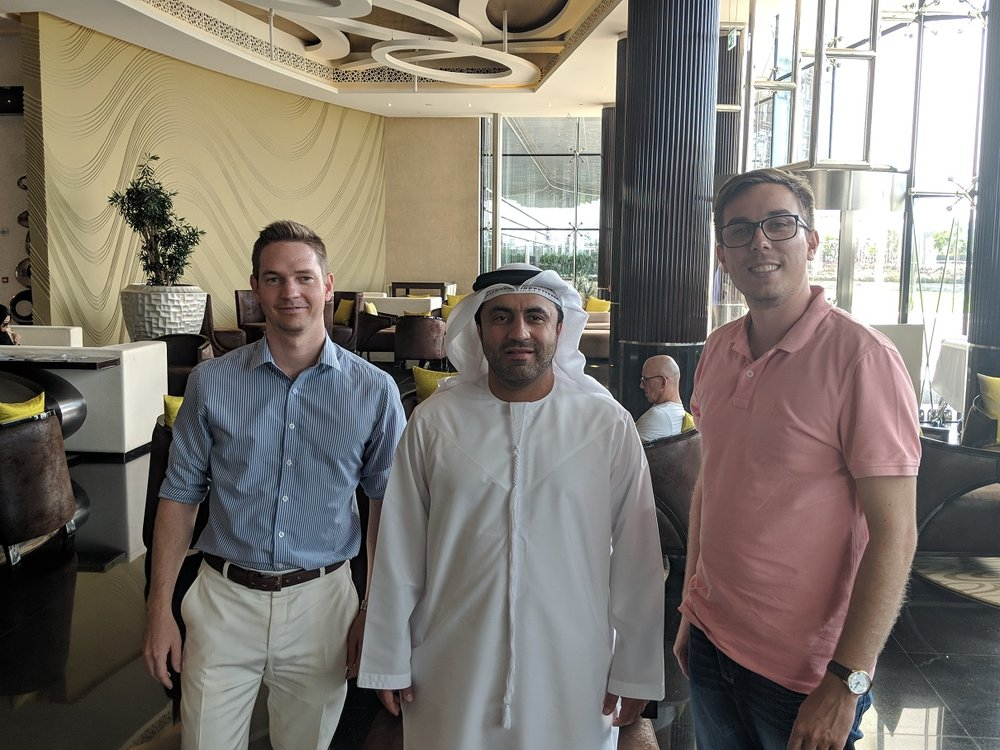 The team with Krypto Labs' Managing Director, Dr Saleh Al Hashemi