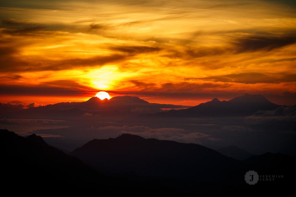 Sunrise from Kelimutu, Flores