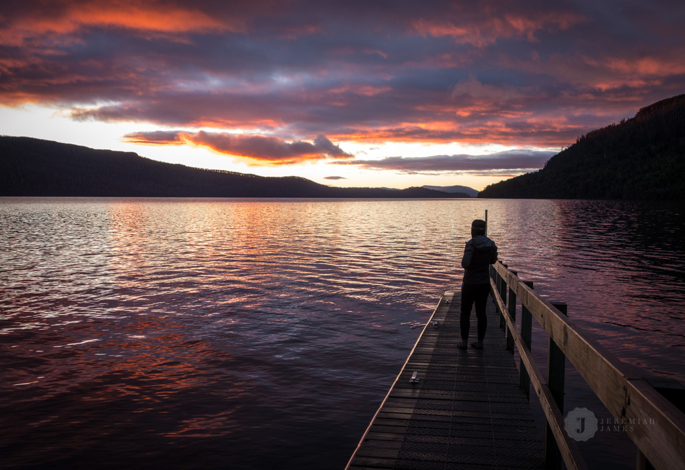 Red sky in the morning... (Lake St Clair, Tasmania)