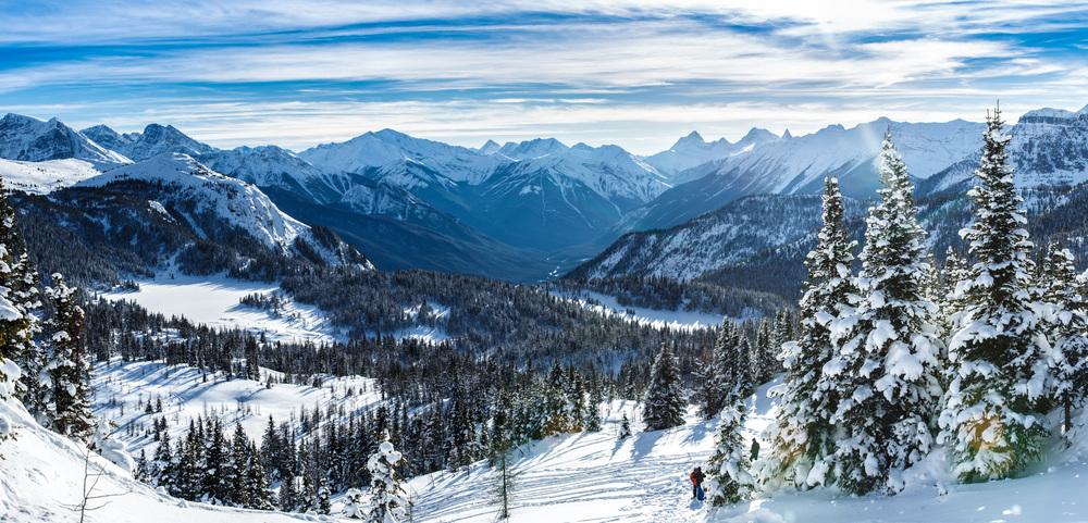 Rocky Mountain winter valley