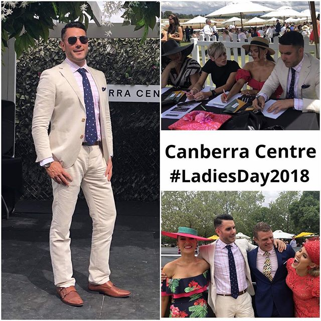 Beautiful day at @thoroughbredpk for Melbourne Cup Ladies Day. I had ball on the field today, sitting on the table with the towns fashion eyes judging 'Fashions on the Field'. What a day! #LadiesDay2018 #RYSKiT  Suit by @mjbale #mjbalecanberra @canberracentre  Judges: @hercanberra @thestatementlife @canberracentre @sofiapolakstyle @nickrysk