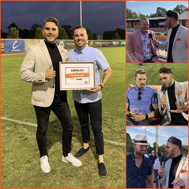 """""""AND THE BEST DRESSED GOES TO @leroymills12 """" It's all in the effort!  @canberracavalry presso night!"""