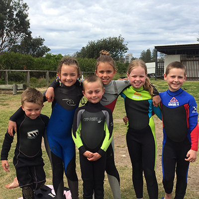 Kids Surfing Birthday Parties - includes 2 hour lesson, surf boards, wetsuit and sunscreen, birthday cake and drinks.  Click here to read more...
