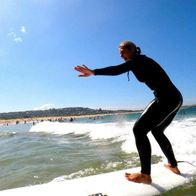 The 'One Day Surf Adventure' is our learn to surf tour. We take you to Sydney's best learning beaches. Smaller groups for more personal attention in your surf lessons. For beginners to intermediate. Incl:Two lessons, equipment and lunch. Click here to read more...