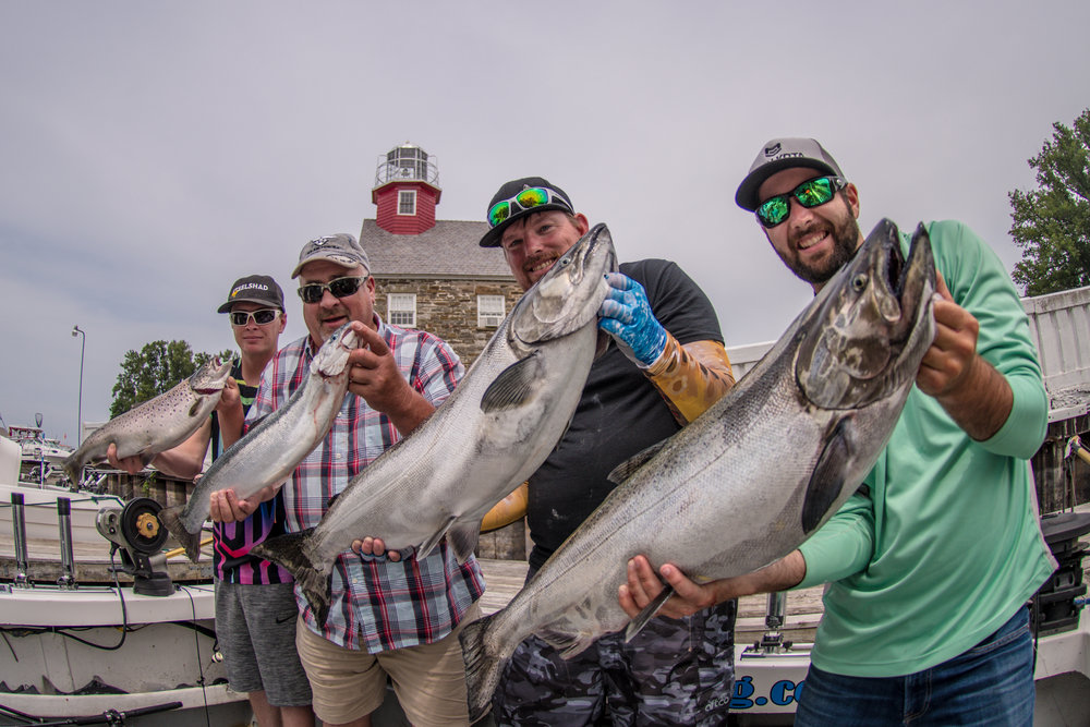 Some good friends with Lake Ontario King Salmon. Photo credit: @jbrouillardfishing