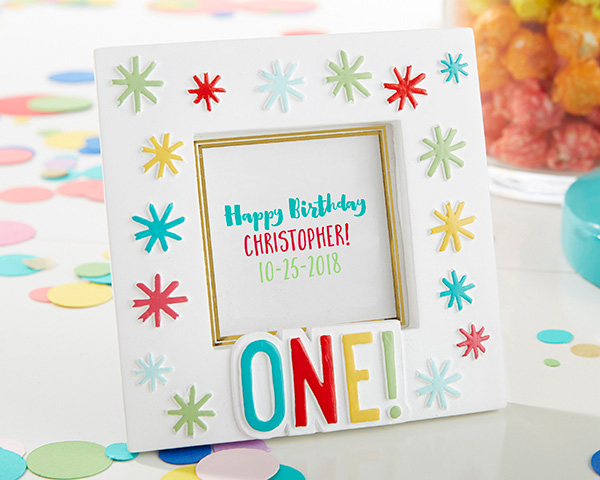 1st Birthday Frame Decoration For Party Favors Or Menu Card Holder