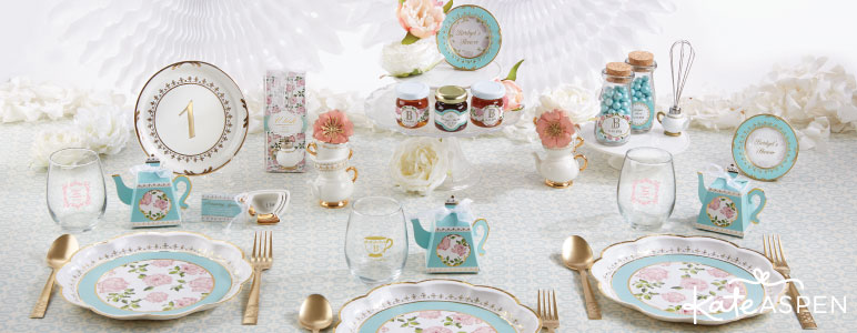 TEA TIME WHIMSY PAPER PLATES (Set of 8) & TEA TIME WHIMSY PAPER PLATES (Set of 8) - Graceful Events