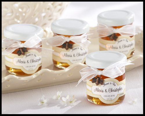 meant to bee personalized clover honey wedding or bridal shower favors set of 12 minimum of 2 orders