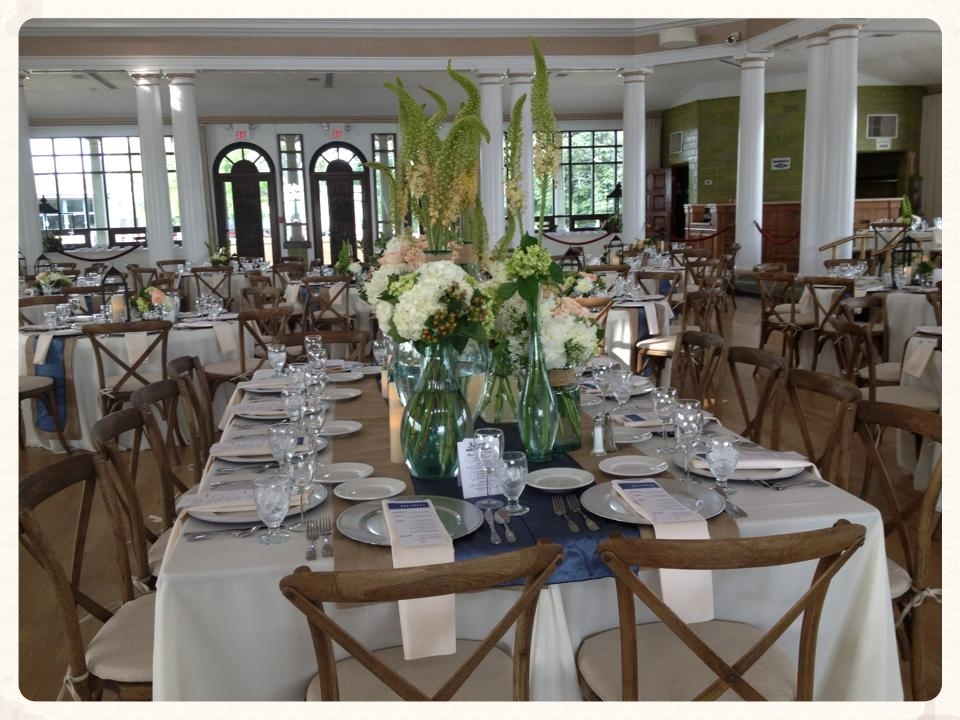 Dramatic Head Table. Rustic Vintage Chairs From Lakes Area Rental.
