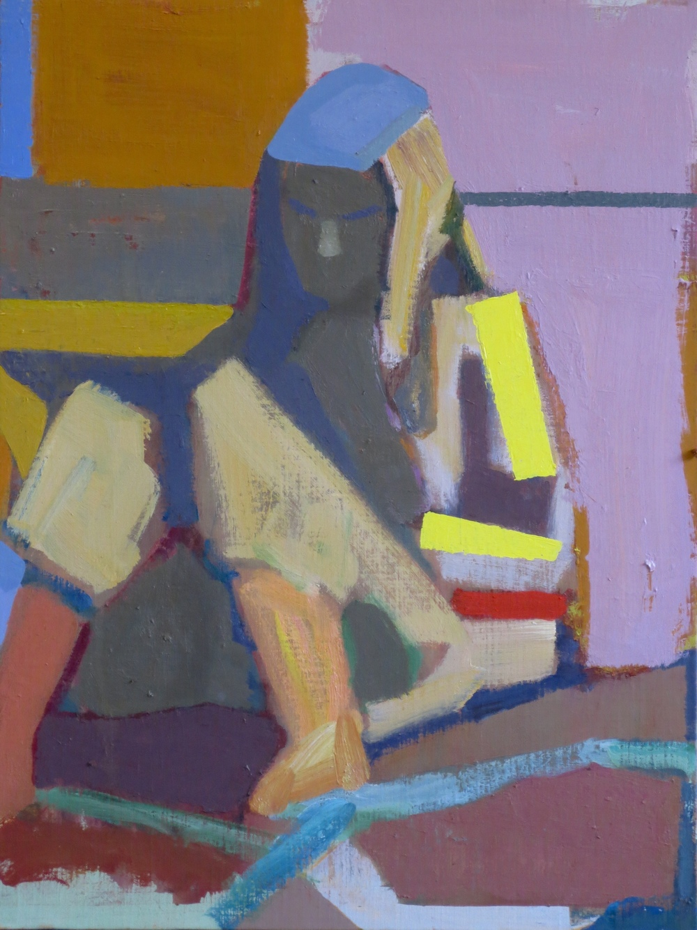 Reader in Shadow, 2015