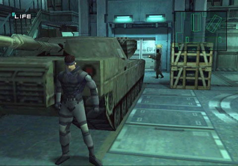 Solid Snake, looking a little less prettiful