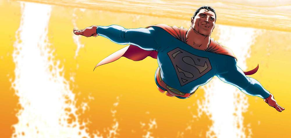 Superman as he appears in All Star Superman