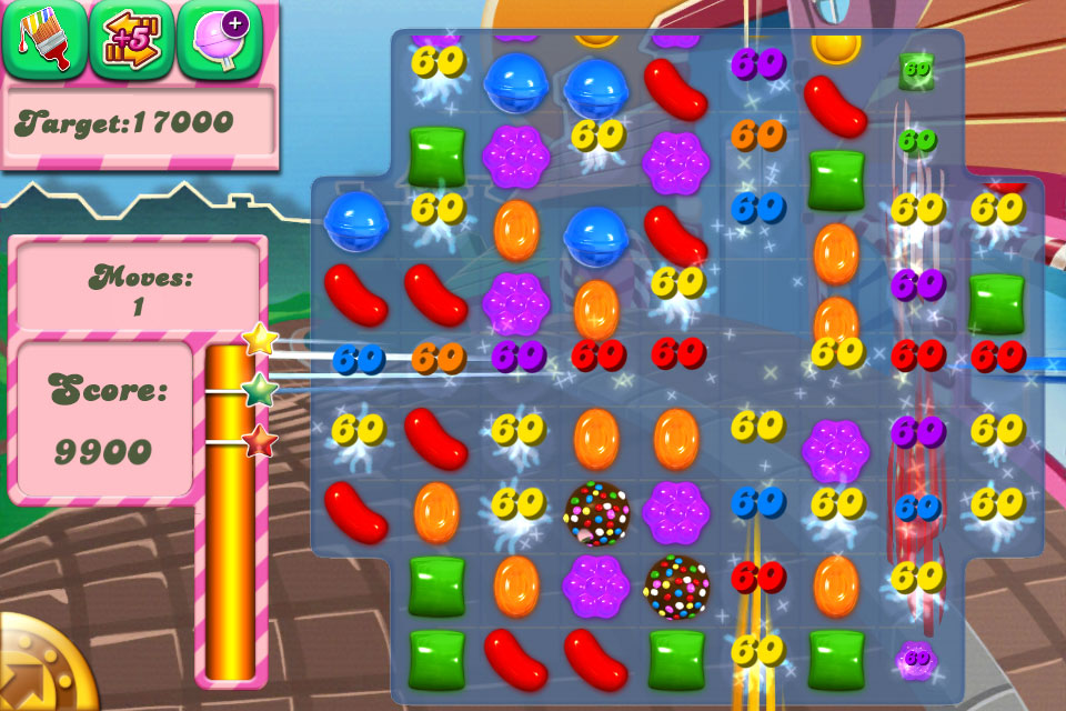 The levels in candy crush are presented like puzzles with a solution, yet the candy placement is shuffled each go, reducing it all to luck. Like, what?