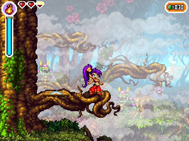 """If  Risky's Revenge  were a Disney film, Shantae would be singing her heart out in this shot. """"Ret-2-Go! Ret-2-Go! Can't hold it back any more-or-ore!"""""""