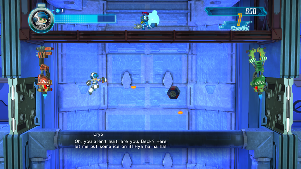 This recurring boss fight, against two robots playing Pong with you in the middle, can do one.