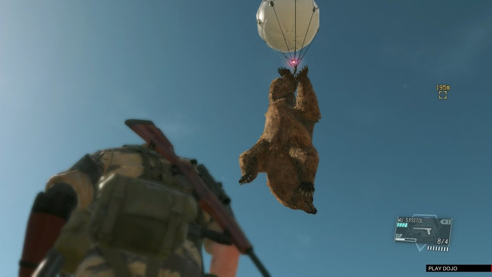 I was so grateful for a non-lethal solution to random bear attacks in MGSV.