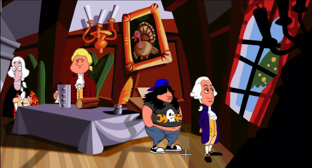 All of the founding fathers have much-copied classic 50s comedy voices.