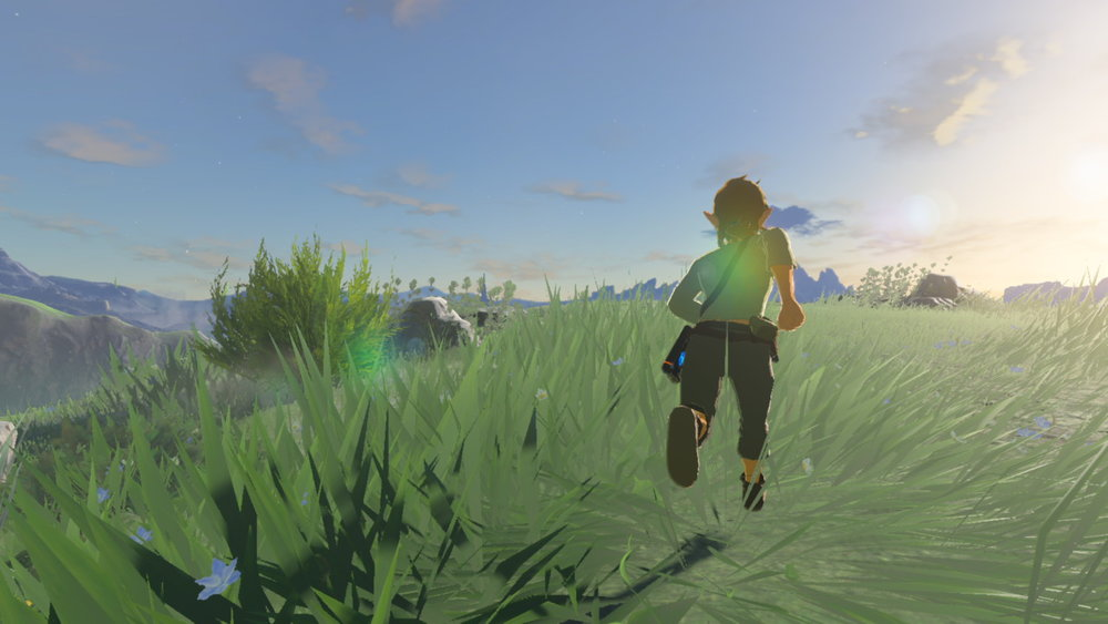 I ain't saying frame rate drops are good, because of course they're not.  What am I saying is PHWOAR LOOK AT ALL THAT GRASS!  Only, er, not too close, looks a bit ugly and jagged up close.  Kind of like  actual grass.