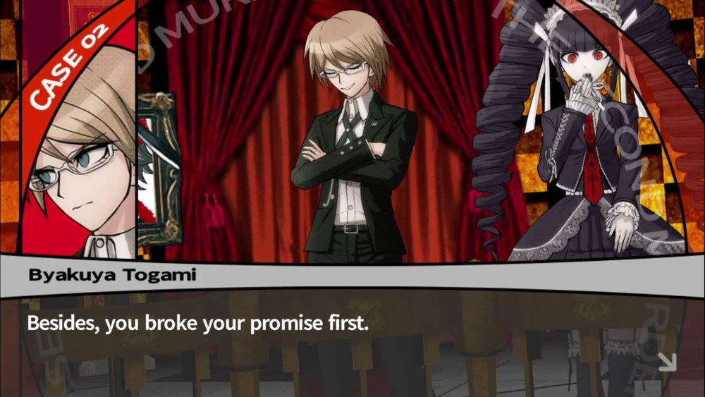 One of countless smug poses from Byakuya Togami.