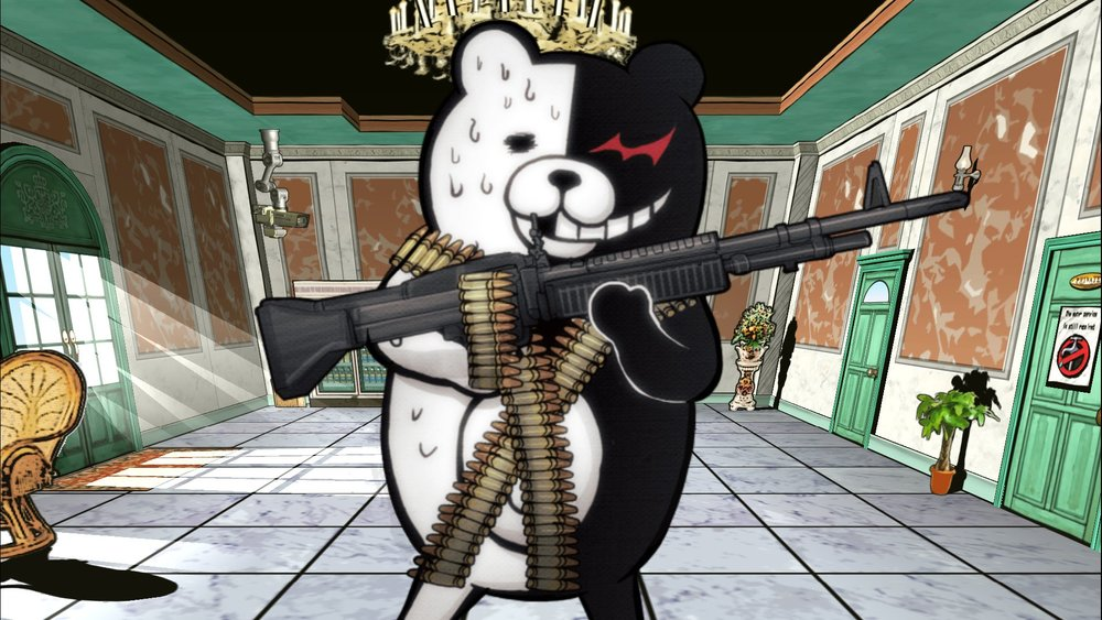 Mickey Mouse never toted a heavy machine gun, did he?