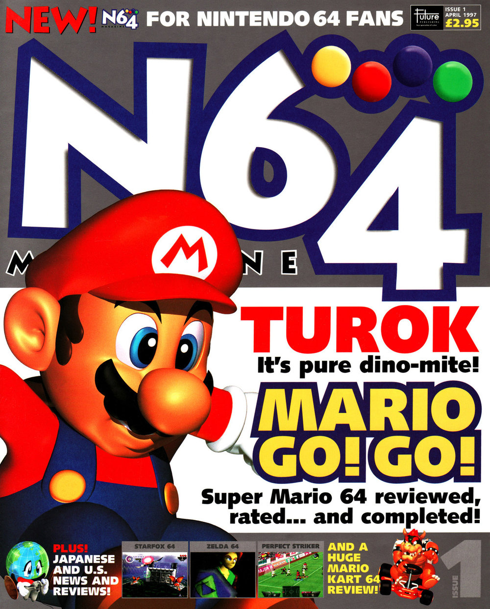 £3.  £3!  If the mentions of 1997 and print journalism hadn't tipped you off that this was a while ago...  That  Mario Kart 64  review  was  huge, too, 8 pages of #content it was.