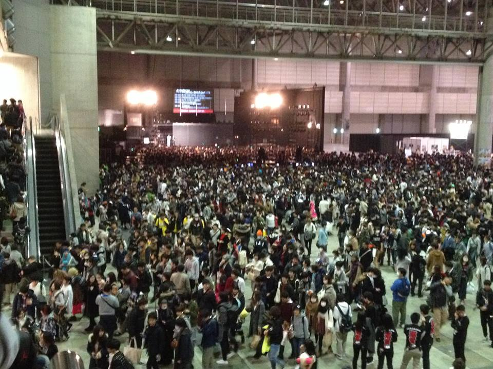 Here's the crowd after the concert, in case you don't believe me that this nonsense is big here!