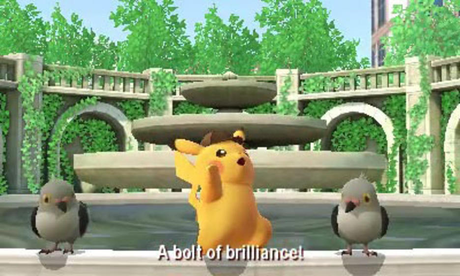 """Detective Pikachu uses this catchphrase when he figures out the mystery. I have a similar one: """"A thunder of theory!"""" Forceful."""