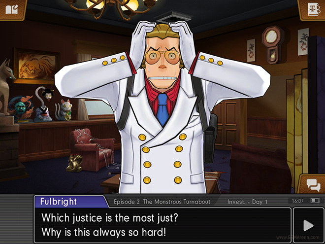 Our new detective, Bobby Fullbright is emblematic of the series' problem with ever more exaggerated designs.. He has none of the browbeaten, simple charm of Gumshoe.