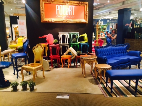 Although this furniture from Polart is definitely unique, it is not for everyone (including us).  They have reworked classic baroque style pieces with a vibrant and youthful color template.