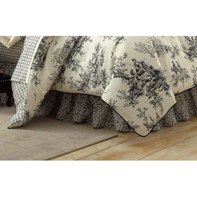 Toile Fabric is a timeless choice in black and white – This Bouvier comforter set by Thomasville at Home can be found at www.wayfair.com.
