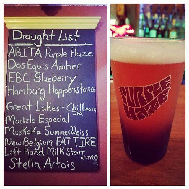 Purple Haze the cure to long Mondays  #purplehaze #beer #beerme #draft #draftlist #craft #brew