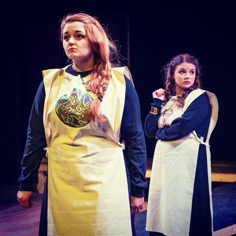 Goneril (Hannah Pentico) & Regan (Katharine Jordan) Photo by: Martin DelVecchio