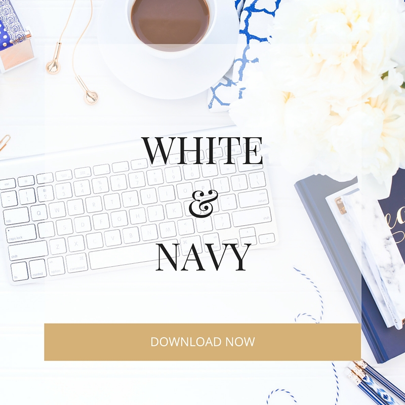 white and navy