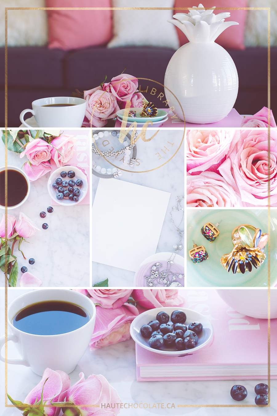 Vintage Feminine Romantic Styled Stock Photos from Haute Chocolate
