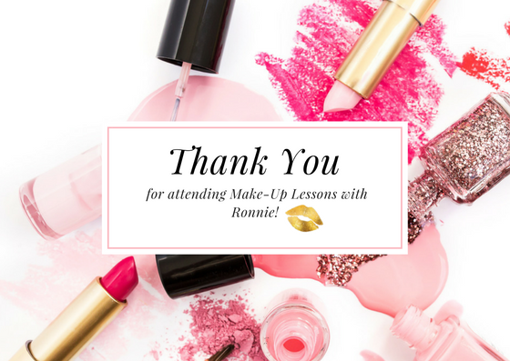 Example of a printed Thank You Card created using a stock photo as a background and then adding a simple white overlay and frame in Canva. Topping it off with a gold foil lip icon from the Haute Chocolate Styled Stock Library keeps the stationary branding consistent.