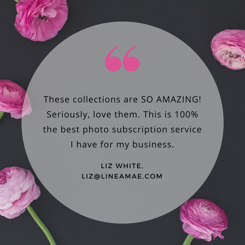 Haute Stock's floral flatlays have the perfect amount of white space for a testimonial! To see more floral graphic examples, click here to view the full article!