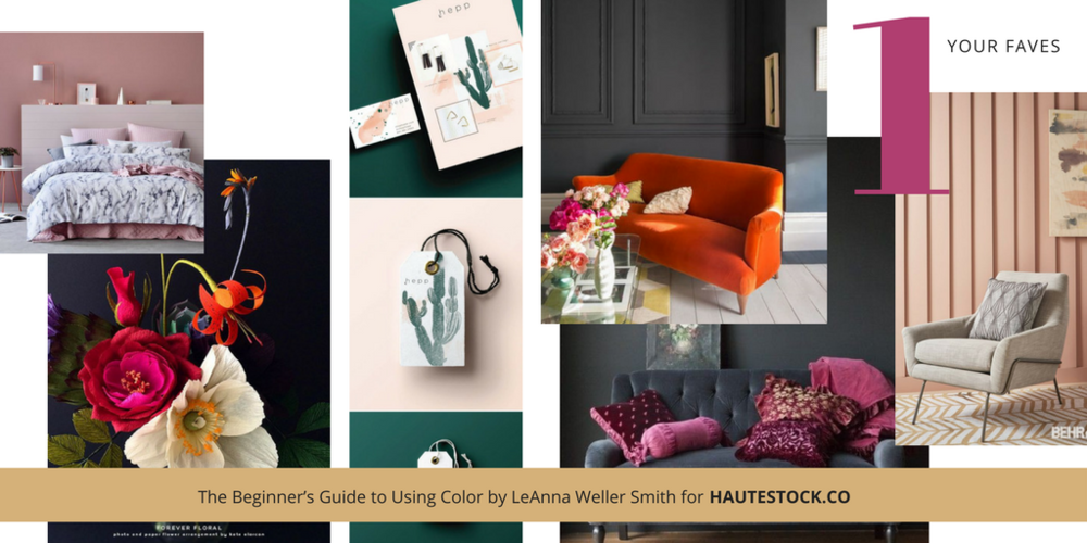 Examples for how to use images to inspire your perfect brand color palette!  For more tips click here!