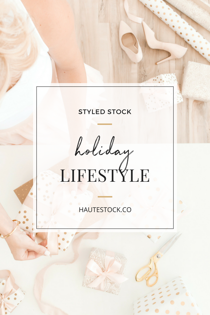 These beautiful pink holiday lifestyle images from Haute Stock are the perfect way to make your visuals stand out this holiday season