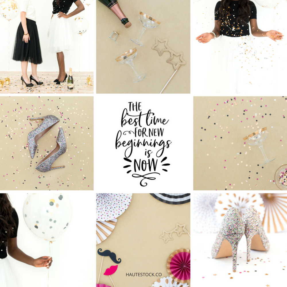 Haute Stock's New Years Eve collection will add a little sparkle to your social media this holiday season!