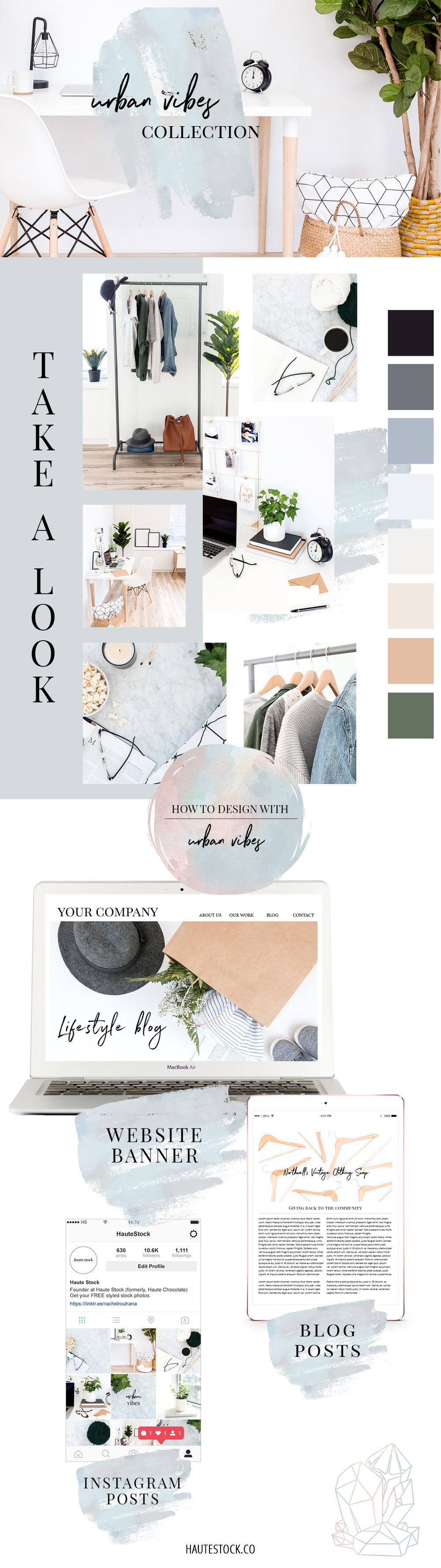 Urban Vibes Collection - A modern, minimal styled stock collection that features lifestyle images and flatlays perfect for fashion stylists, home organizers and bloggers. Click to see a full preview of the collection!