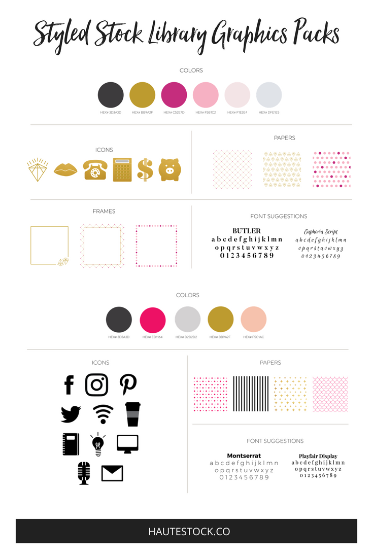 female entreprenur branding style guide from the Haute Stock Library.png