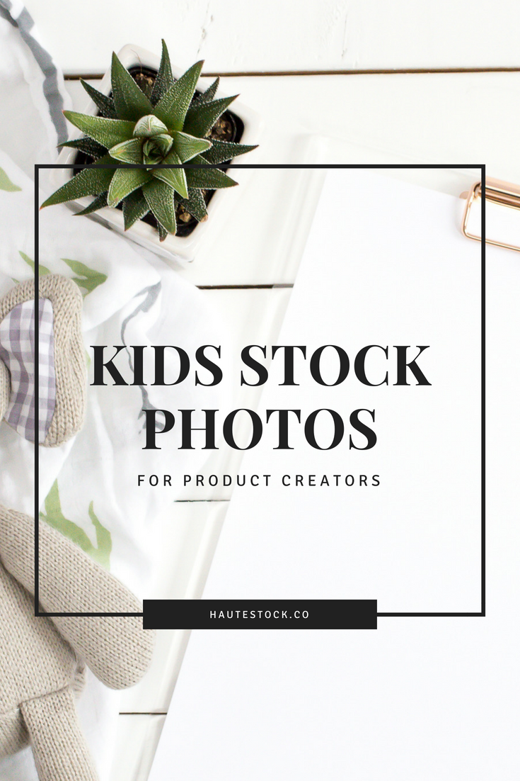Haute Stock's kid stock photos featuring flatlays and mockups for product creators.