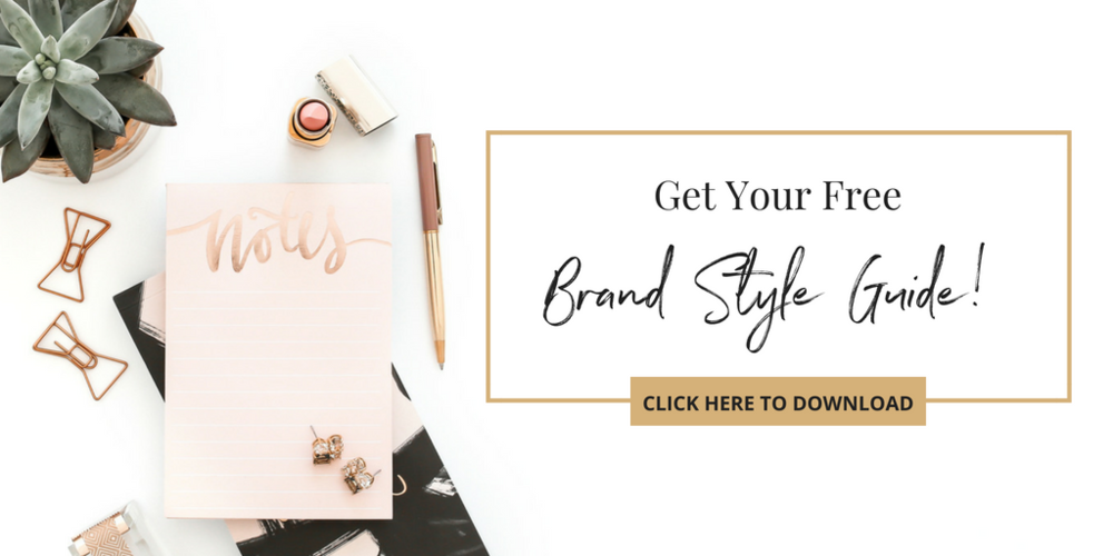 Get your free Brand Style Guide from Haute Stock and take our first step to creating your own Brand Style Guide!