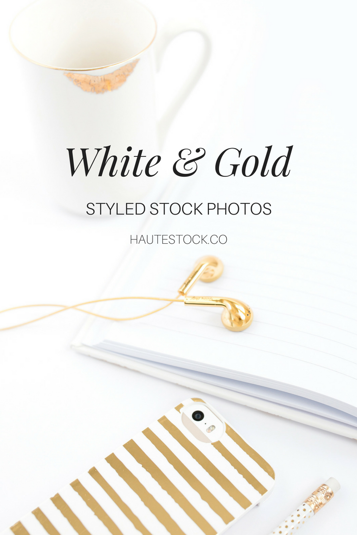 Haute Stock's White and Gold styled stock photography. Click to see more!